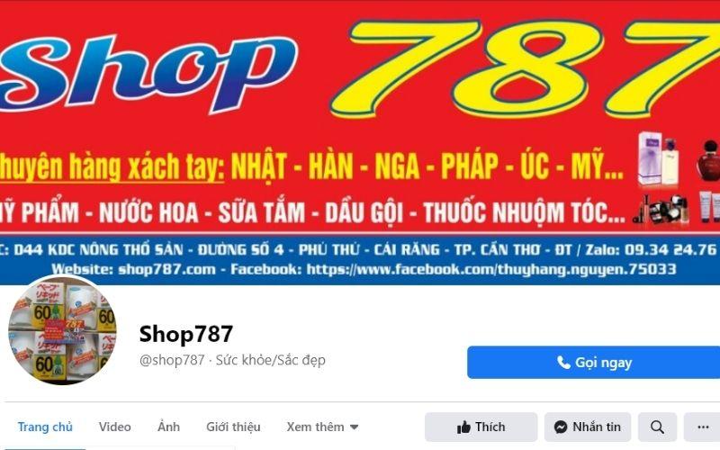 Shop787 chuyên xách tay các loại nước hoa chất lượng từ nước ngoài