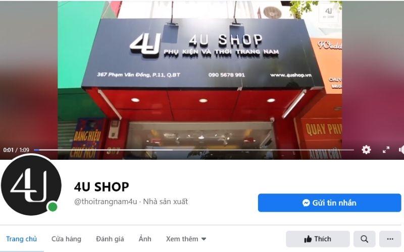 4U Shop là cửa hàng bán phụ kiện và thời trang nam rất uy tín và có chất lượng