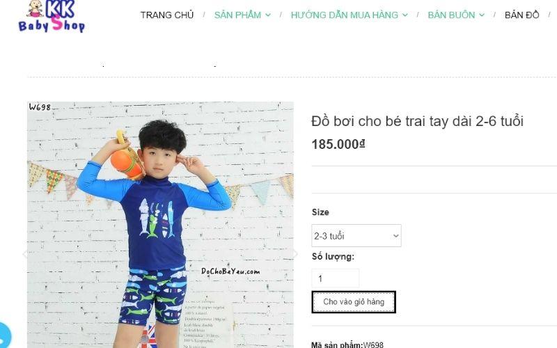 KK Baby shop cung cấp hàng trăm mẫu đồ bơi trẻ em ở TPHCM