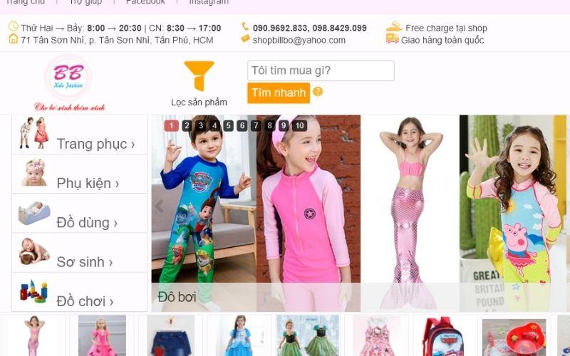 Shop bán đồ bơi trẻ em ở TPHCM BB Kids