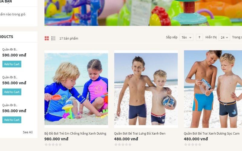 Đồ chơi cho bé chuyên bán đồ bơi trẻ em được nhập khẩu từ Đức