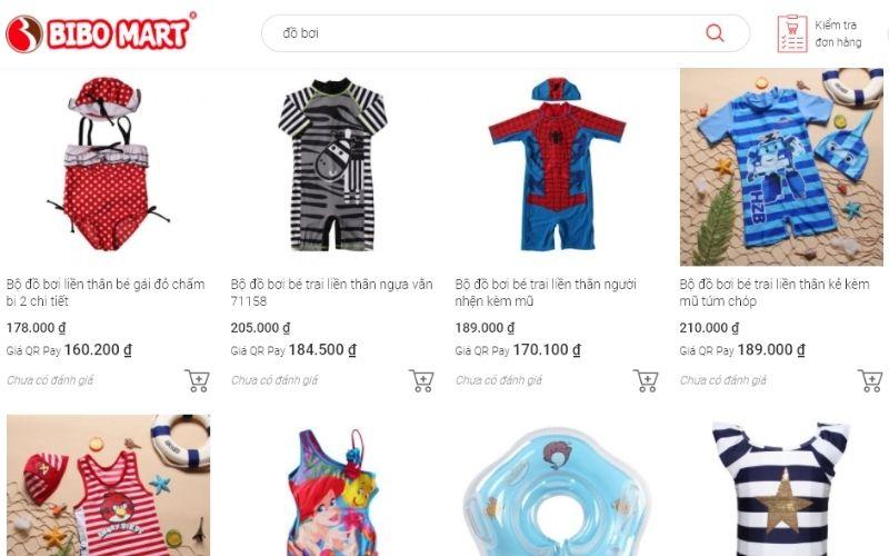 BIBO MART là hệ thống cửa hàng bán đồ bơi trẻ em ở Hà Nội rất được ưa thích