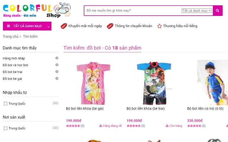 Muốn mua đồ bơi trẻ em ở Hà Nội là hàng nhập khẩu, hãy đến Colorful Shop
