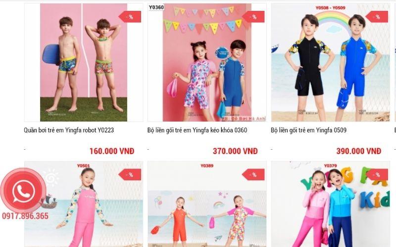 Đồ bơi Hà Anh - Shop bán đồ ơi trẻ em tại Hà Nội uy tín, chất lượng