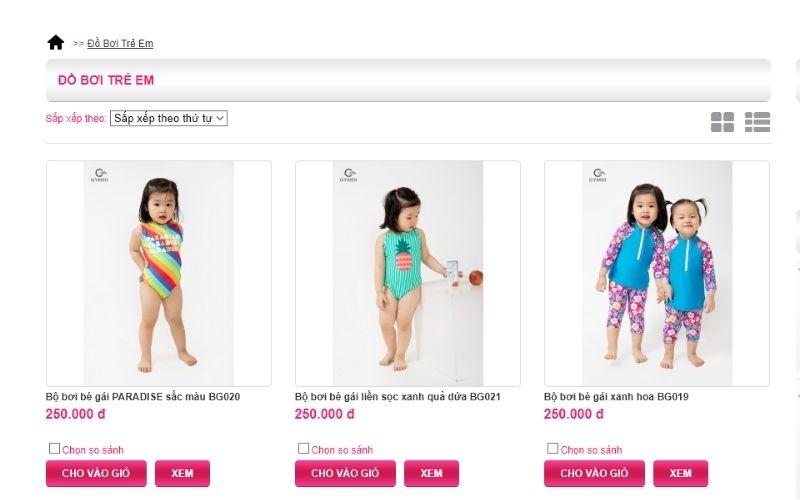 Hương Điệp Shop cung cấp đầy đủ mẫu mã, giá cả các loại đồ bơi trẻ em tại Hà Nội