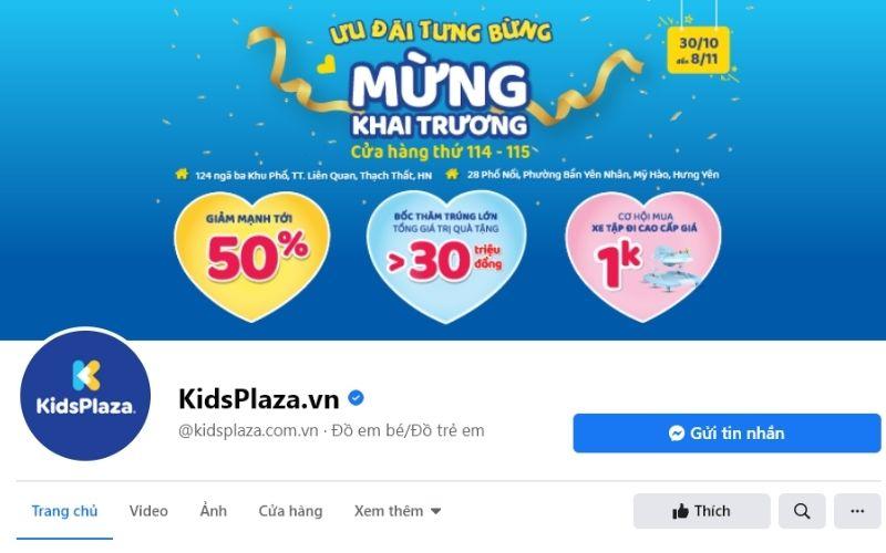 Kid Plaza cũng là chuỗi cửa hàng đồ bơi trẻ em rất nổi tiếng