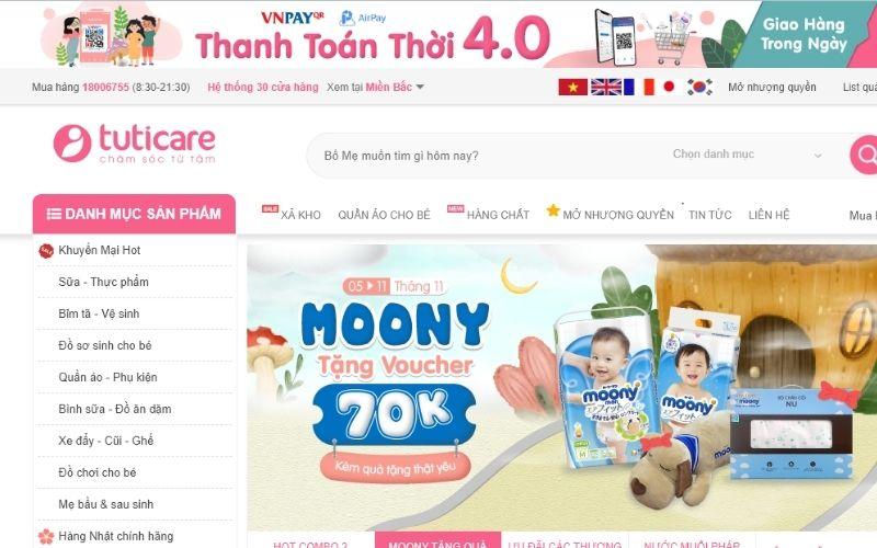 Tuti Care là shop rất uy tín về cung cấp đồ bơi trẻ em tại Hà Nội