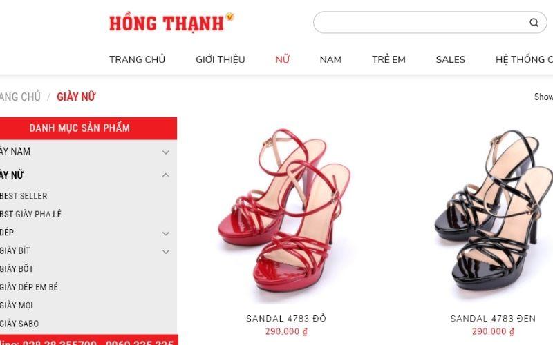 Cửa hàng Hồng Thạnh có uy tín lâu năm về bán giày dép nữ TPHCM.