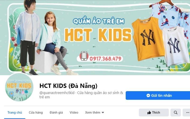 HCT Kids nổi tiếng là shop bán quần áo trẻ em Đà nẵng có chất lượng tốt