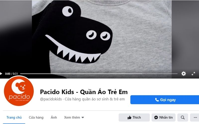 Pacido là địa chỉ uy tín chuyên bán quần áo trẻ em tại Đà Nẵng