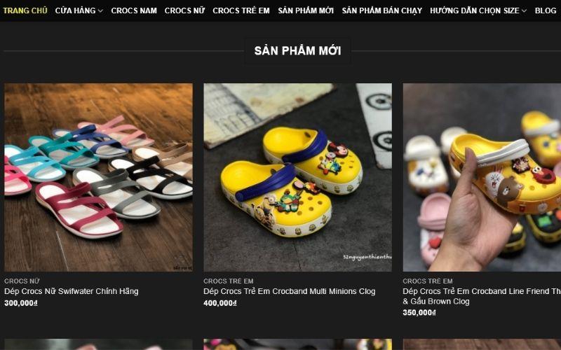 Nhiều mẫu giày dép rất dễ thương có mặt tại Crocs
