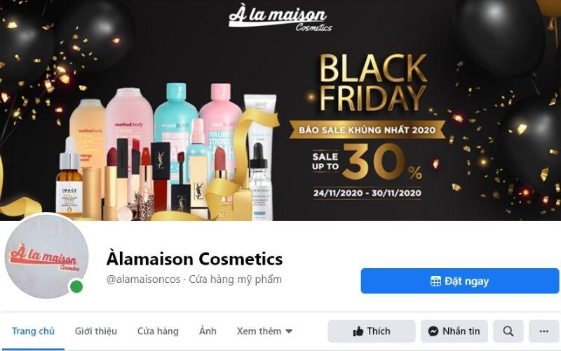 Àlamaison Cosmetics đem tới cho bạn nhiều mỹ phẩm tốt, có độ tin cậy cao