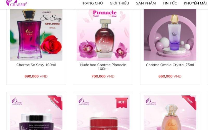 Charme là thương hiệu nước hoa của Việt Nam