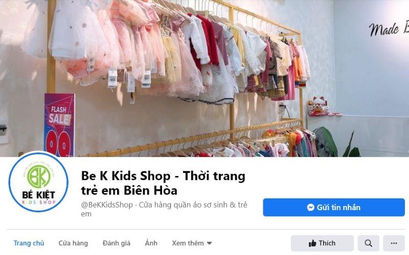 Bé Kiệt Kid là shop quần áo trẻ em đẹp ở Biên Hòa rất nổi tiếng