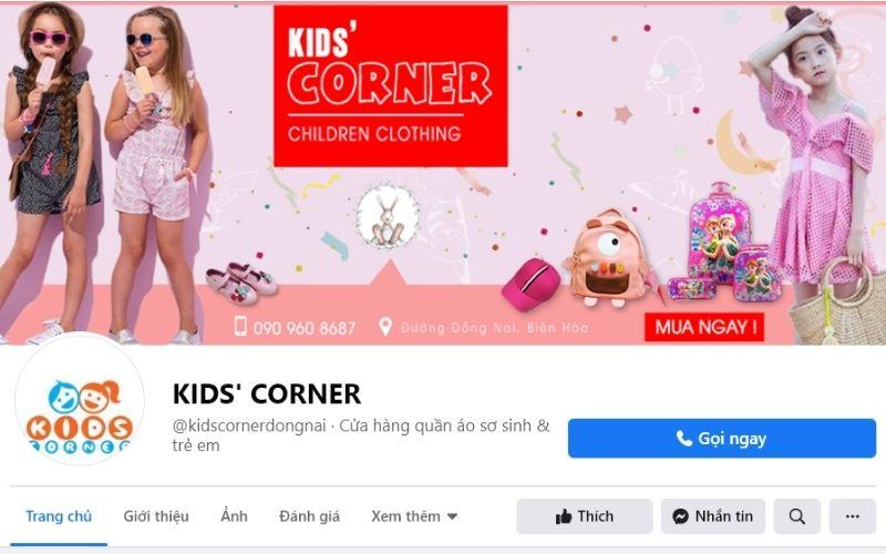 Shop quần áo trẻ em đẹp ở Biên Hòa Kid Corner