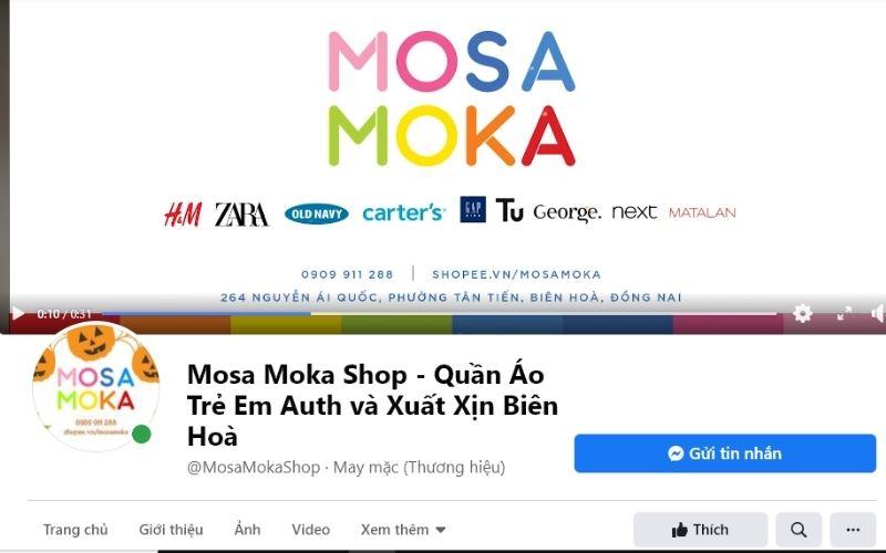 Mosa moka chuyên bán các loại quần áo trẻ em nhập khẩu với giá tốt