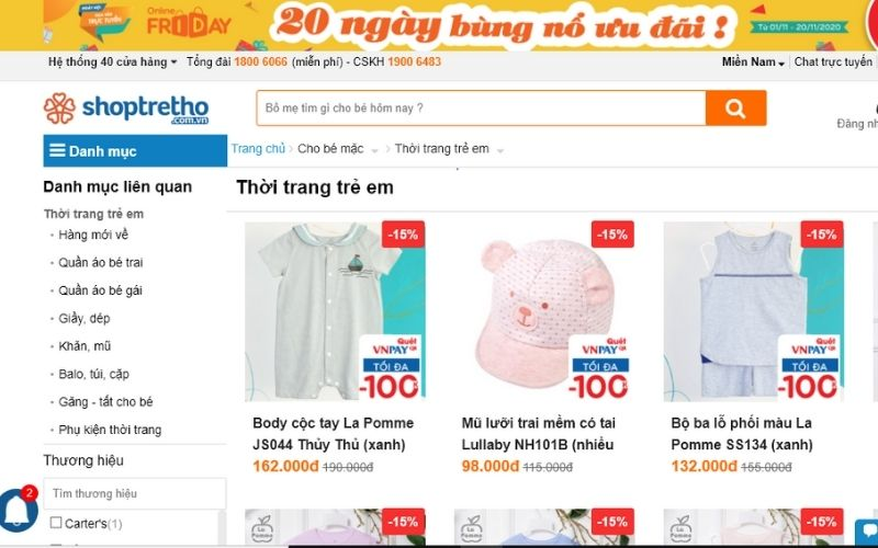 Shop trẻ thơ là địa chỉ uy tín khi mua quần áo trẻ em ở quận 6