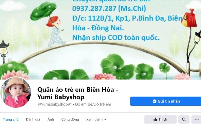 Quần áo trẻ em tại Yumi Babyshop có giá rất rẻ
