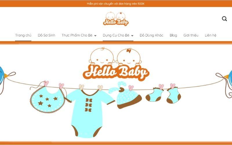 Shop quần áo trẻ em Hải Phòng Hello Baby có rất nhiều quần áo đẹp cho các bé