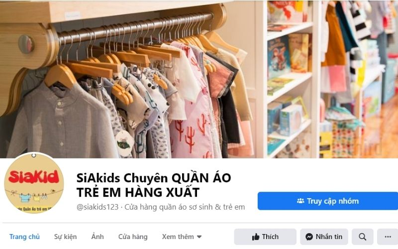 Hàng loạt mẫu quần áo giá rẻ được Siakid bày bán