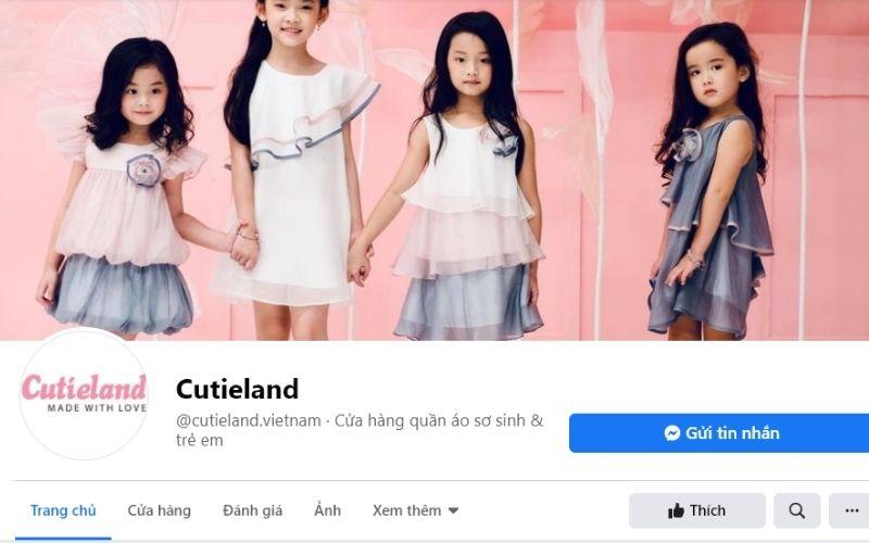 Cutieland là một thương hiệu nổi tiếng về thời trang trẻ em