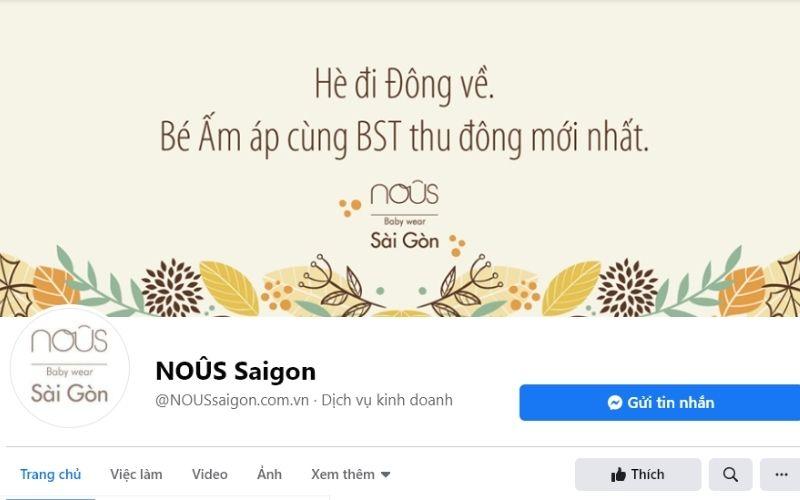 Nous Saigon là địa chỉ quen thuộc mà các mẹ hay ghé để mua sắm quần áo cho các bé