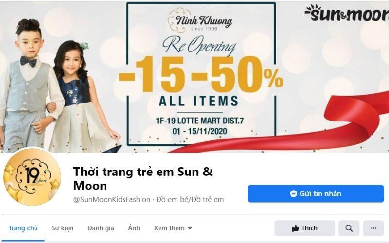 Sun & Moon là địa chỉ tha hồ mua sắm của các bé