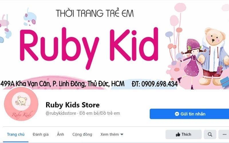 Shop quần áo trẻ em ở Thủ Đức được nhiều người yêu thích Ruby Kid