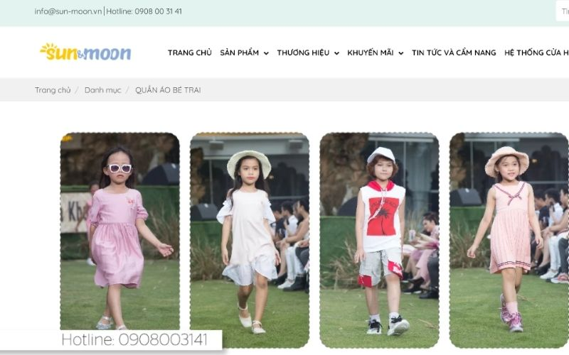 Sun & Moon tự tin là shop quần áo trẻ em ở Thủ Đức có chất lượng tốt và giá cả phù hợp