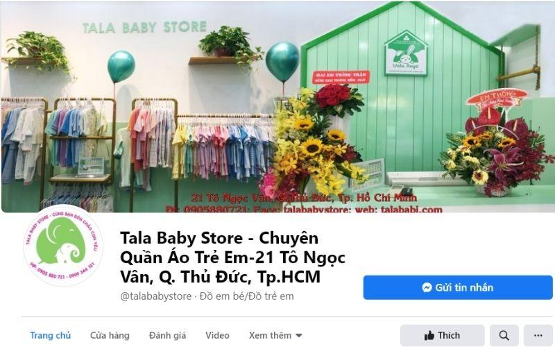 Tala Baby Store là một trong những shop quần áo trẻ em ở Thủ Đức có giá cả phải chăng nhất
