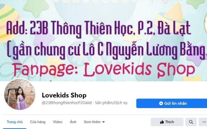 Nhắc đến shop trẻ em đẹp Đà Lạt, không thể không nhắc tới Love Kids