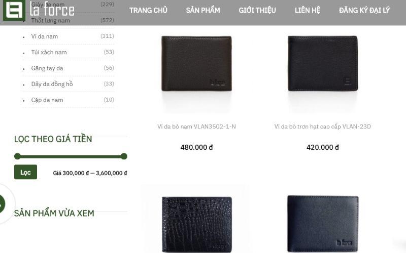 Laforce đang ngày càng trở thành một thương hiệu ví da có chất lượng
