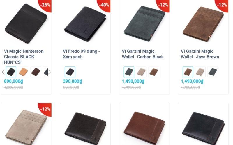 Đa dạng về sản phẩm, mẫu mã cùng chất lượng cao, KOS shop là nơi bạn có thể ghé năm khi mua ví