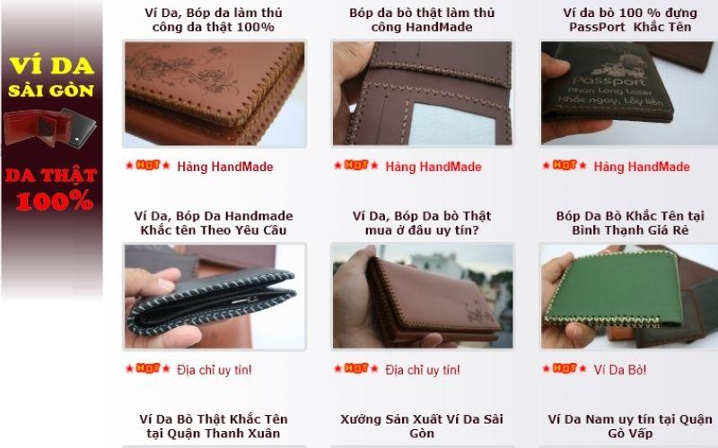 Ví da Sài Gòn chuyên cung cấp các loại ví da thật 100% được làm hoàn toàn bằng thủ công