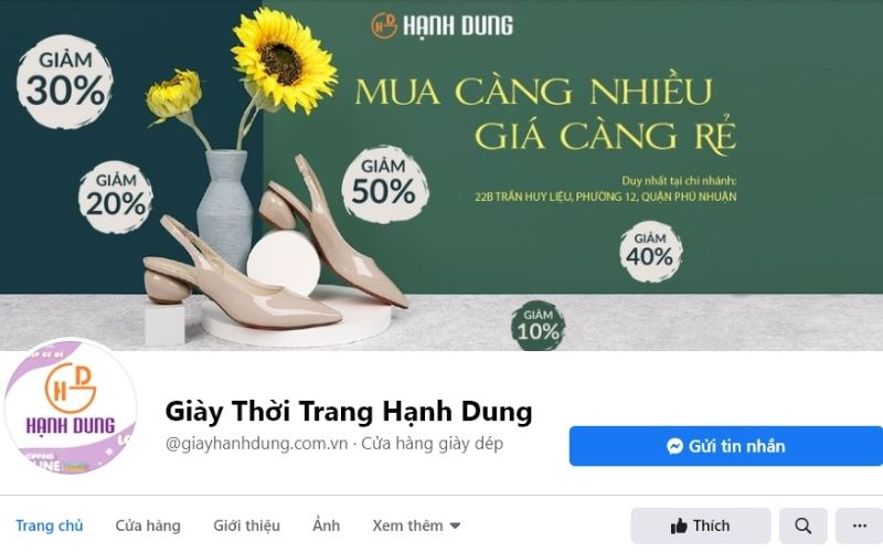 Giày dép Hạnh Dung cũng là thương hiệu khá quen thuộc