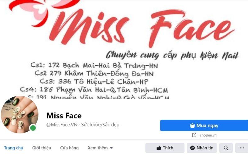 Miss Face chắc chắn là cái tên không thể bỏ qua trong top cửa hàng phụ kiện nail ở Hà Nội