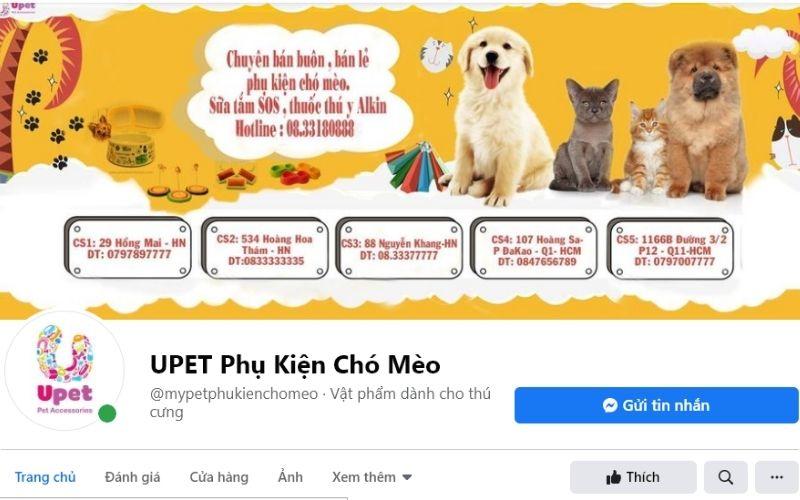 Upet chuyên bán buôn, bán lẻ phụ kiện dành thú cưng ở TPHCM