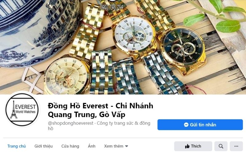 Cửa hàng Everest là đại lý phân phối của 1 số hãng đồng hồ nổi tiếng