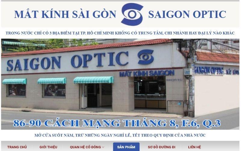 Cửa hàng mắt kính Sài Gòn Optic