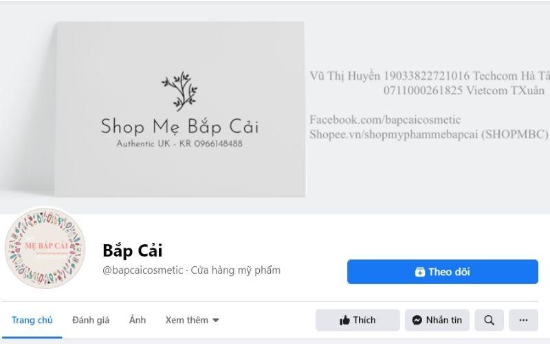 Shop mỹ phẩm Bắp Cải chỉ bán hàng chất lượng, chính hãng cho khách hàng