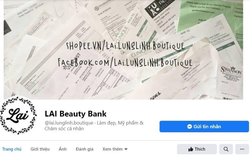 Lai Beauty Bank là nơi dành cho chị em mê mỹ phẩm làm đẹp da