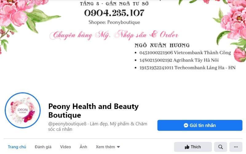 Peony Health and Beauty Botique luôn đem đến cho người dùng những sản phẩm chính hãng
