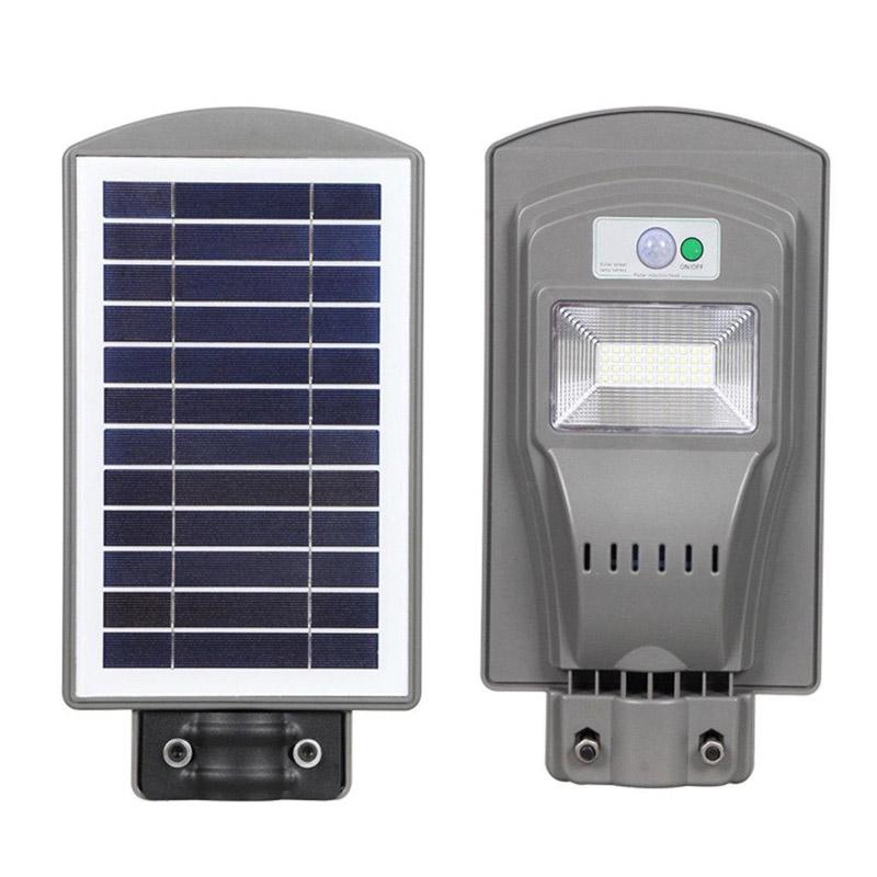 Đèn đường LED năng lượng mặt trời – Tấm pin liền
