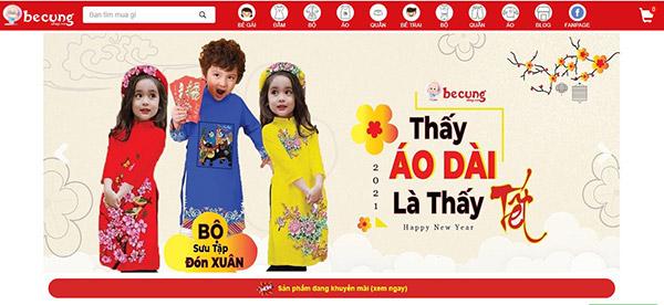 Thời trang trẻ em tại Bé Cưng Shop