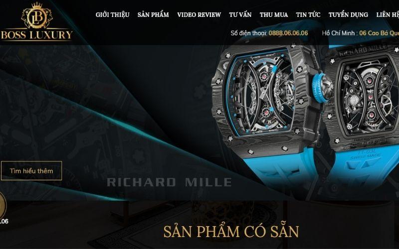 cửa hàng đồng hồ boss luxury