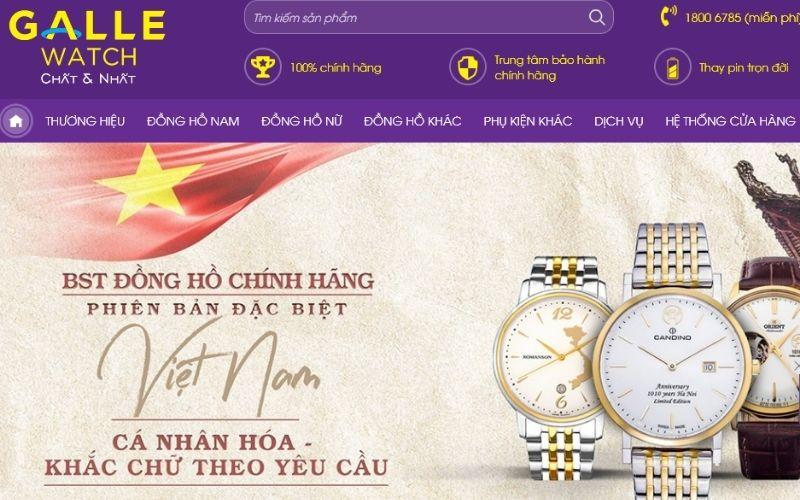 cửa hàng đồng hồ Galle watch