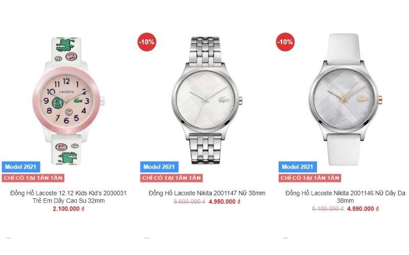 cửa hàng đồng hồ nữ giá rẻ tphcm Tân Tân