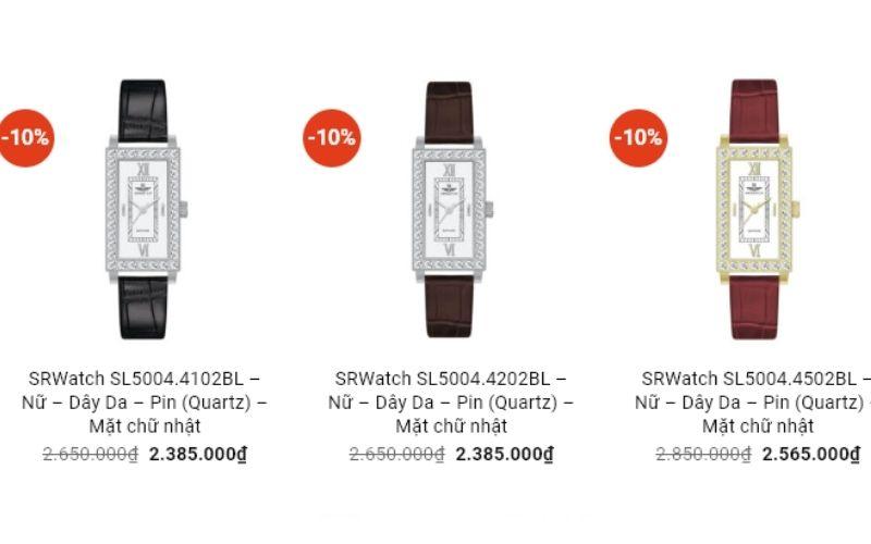 cửa hàng đồng hồ nữ giá rẻ tphcm vina watch