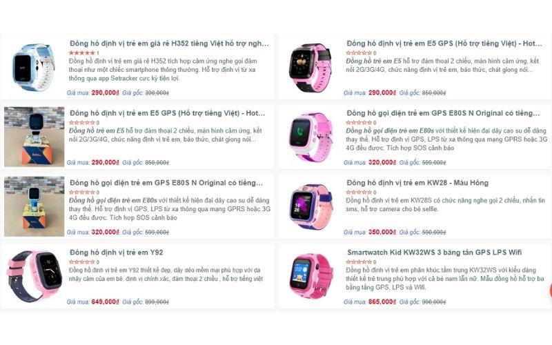 cửa hàng đồng hồ trẻ em giá rẻ tphcm boba shop