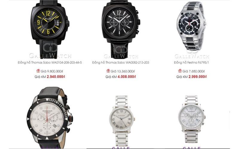 cửa hàng đồng hồ nam giá rẻ tphcm Galle